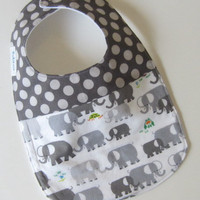 Baby Bib, Elephants Spot On, Babiease Baby Boutique, Custom Baby Gift Sets