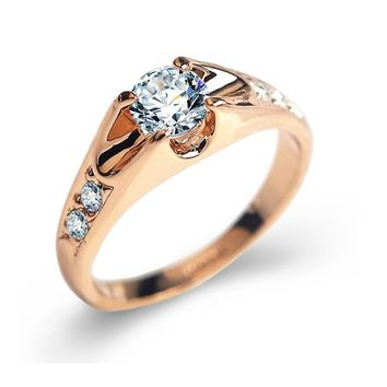 Rose Gold color Engagement Rings
