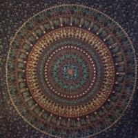 Elephant Mandala Tapestry 10  - Mellow Mood