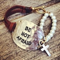 Be Not Afraid Pearl Bracelet