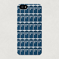 Tardis Tile Pattern Cute iPhone 4 4s 5 5s 5c Samsung Galaxy S4 S3 Case