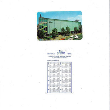 1963 Vintage Advertising Calendar & Card from Miller's Department Store on Henley St. in Knoxville, Tennessee, Vintage Advertising Ephemera