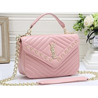 YSL Hot Selling Fashion Lady Pure Color Shopping Bag Single Shoulder Bag
