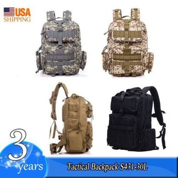 30L Outdoor Military Rucksack Tactical Backpack Bag For Camping Hiking Trekking