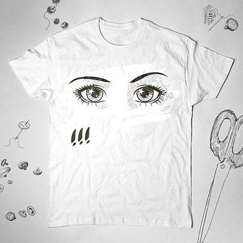 Anime Eyes Graphic Woman Men Fashion T-Shirt Shirt Top Tee