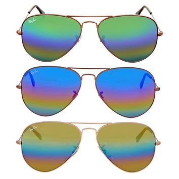 Ray Ban Rainbow Flash Aviator Sunglasses RB3025 - Choose color & size
