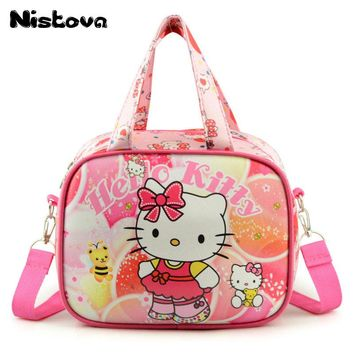 Girls Hello Kitty Shoulder Messenger Bag Cat Handbag Waterproof Children Cute Crossbody Bags Cartoon Lunch Bag for Kids