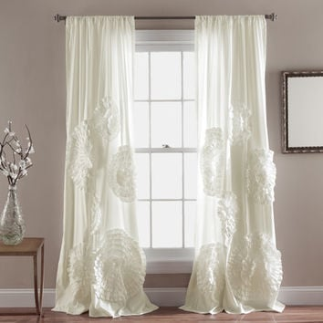 Couture Dreams Enchantique Linen Gauze Window Single Curtain Panel