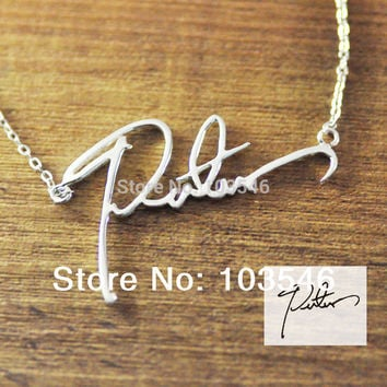 Gold name necklace custom signature necklace personalized handwriting necklace handmade jewelry