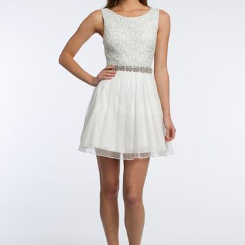 Glitter Lace Dress with Beading