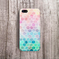 HEXAGON iPhone case, Hexagon Cell Phone Case iPhone 5 Case Pastel Hexagon iPhone 4 case Bohemian iPhone case Stylish iPhone Case Pastel Pink