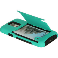 DW Hybrid Credit Card / Stand Case for Samsung Galaxy S5 - Teal