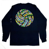 Volleyball Words Shirt - Long Sleeve - Lucky Dog Volleyball
