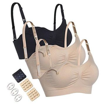 WETONG New AntiAllergy Material Nursing Bras Super Soft and Breathable with Extra Bra Extenders amp Clips