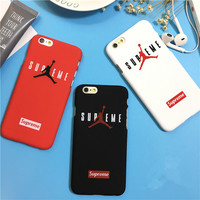 Fashion Sport Hard Plastic Matte Black Cover For iPhone 5 5s SE Supreme NBA Brand Jordan Case For iPhone 7 6 6S Plus 7plus Coque