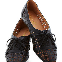 ModCloth Menswear Inspired Porch Edition Flat in Black