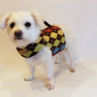 RockinDogs Brown Argyle Dog Harness