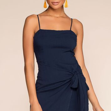 100 Days Of Summer Wrap Dress - Navy