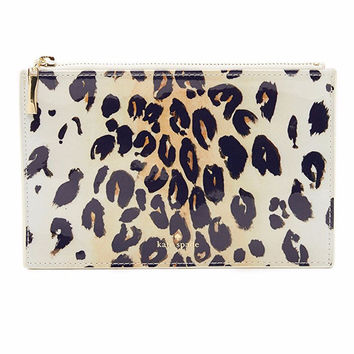 Leopard Pencil Pouch by Kate Spade New York