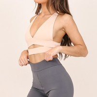 City Sleeker crop top in nude Produced By SHOWPO