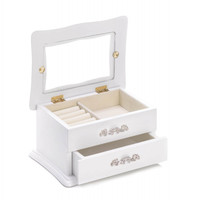 White Wood Jewelry Box
