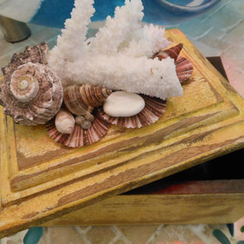 Shell Jewelry Box by LiveCoastal on Etsy