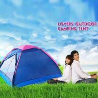 Quality large outdoor tent camping for the lover couple 2 person waterproof& windproof anti-ultraviolet camping equipment