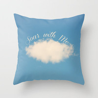 Soar with Me Throw Pillow by Beth - Paper Angels Photography | Society6