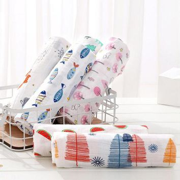Muslin Baby Blankets Bedding Infant Swaddle Towel For Newborn Swaddle Blanket Photography Props Outfits Soft Sleep Stroller Wrap