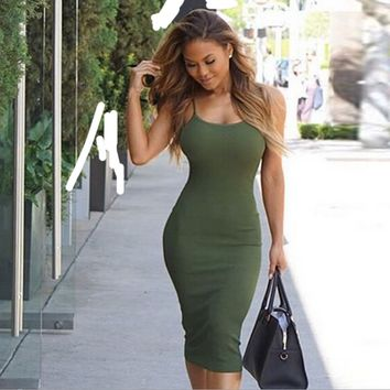 Strappy Bodycon Pencil Dress 9965