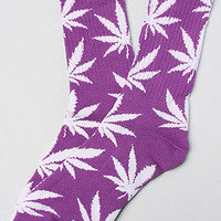 HUF The Plantlife Socks in Purple White