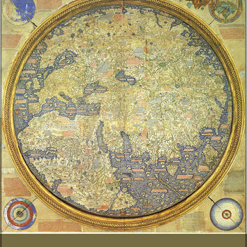 24x36 Poster; Fra Mauro World Map C1460