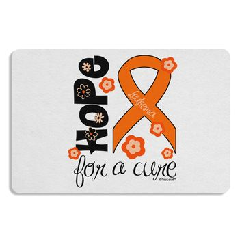 Hope for a Cure - Orange Ribbon Leukemia - Flowers Placemat