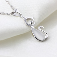 Cat Pendants Fit Necklaces Chain For Women Party Birthday Trendy Fashion Jewelry