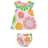 "Carter's Girls 2-Piece Volume Cottons Dress with Panty - Multi Flower (Newborn) - Carters - Babies ""R"" Us"