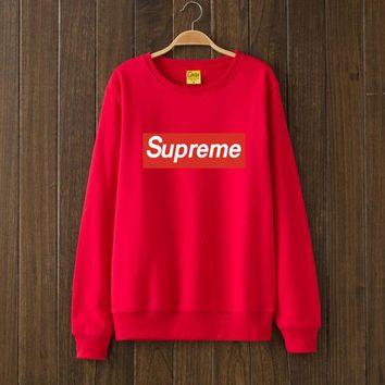 Supreme Woman Men Top Sweater Pullover