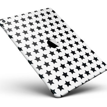 """Slate Black All Over Star Pattern Full Body Skin for the iPad Pro (12.9"""" or 9.7"""" available)"""