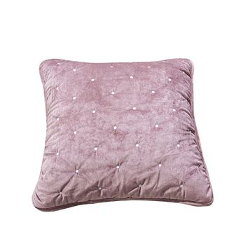 Tache Purple Mauve Velvety Dreams Luxury Velveteen Plush Diamond Tufted Cushion Cover 2 Pieces (JHW-853P-CC)