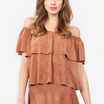 Alamode Suede Top