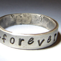 Forever Sterling Silver Handmade Love Ring