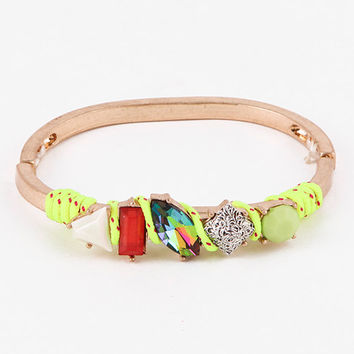 Neon Yellow Crandy Crush Bracelet