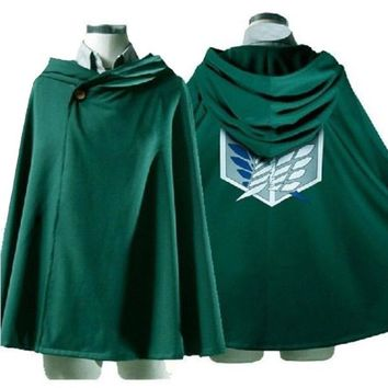 Anime Attack on Titan Cosplay Cloak Shingeki no Kyojin The Scouting Legion Eren Jaeger Dust Coat Cape Costumes