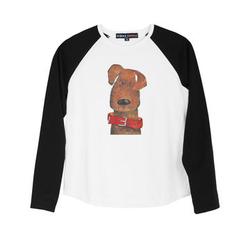 Kid Child Cute animals painting Print Cotton Long Sleeves Raglan T-shirt  UTS_01