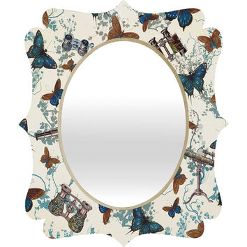 Belle13 Looking For Butterflies Quatrefoil Mirror