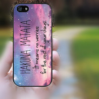 iphone 5s case,iphone 5 case,iphone 5c case,iphone 5s cases,iphone 5 cases,iphone 5c case,cute iphone 5s case--hakuna matata,in plastic.