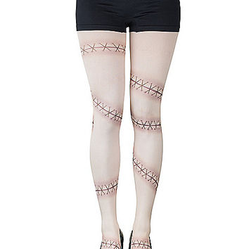 Nude Stitches Tights - Spirithalloween.com