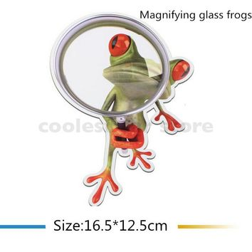 New 3D Frogs Funny Car Stickers car styling vinyl decal sticker decoration High temperature & water Proof Auto accessories