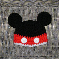 Crochet Mickey mouse hat - Baby boy hat - Baby girl hat - Disney chunky and soft hat beanie