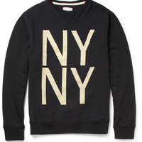 Saturdays Surf NYC Bowery Printed Cotton-Jersey Sweatshirt | MR PORTER
