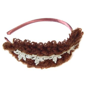 Ladies fashion head band w/yarn and crochet head wear hair braid